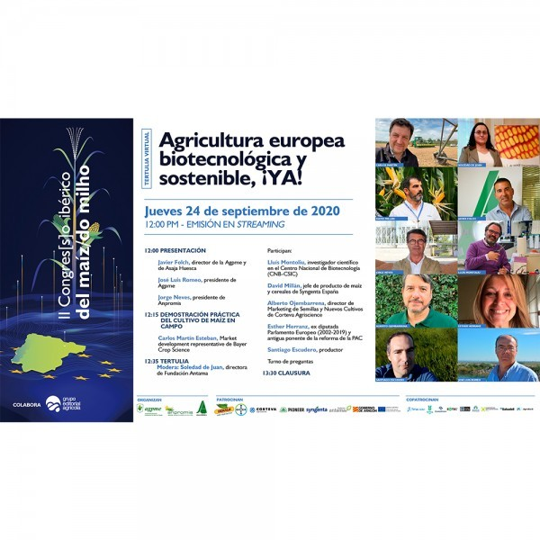 Tertulia virtual: Agricultura europea biotecnológica y sostenible, ¡Ya! (Video completo)